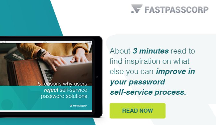 5 reasons why users reject self-service password solutions