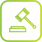 finance and legal business case icon